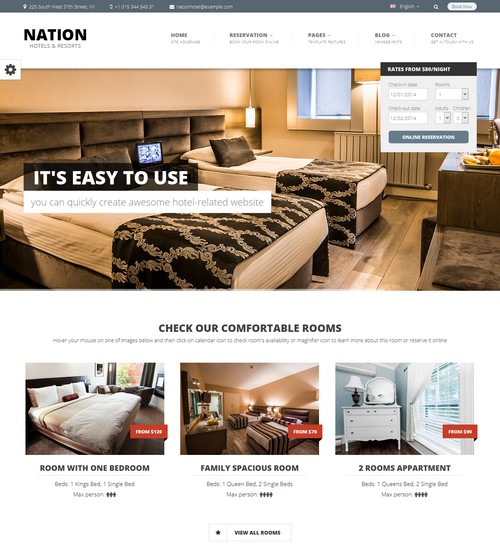 Nation Hotel WordPress Theme