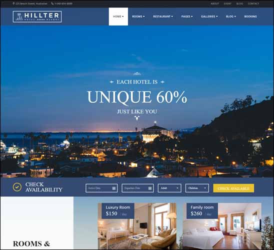 hillter-responsive-hotel-booking-theme